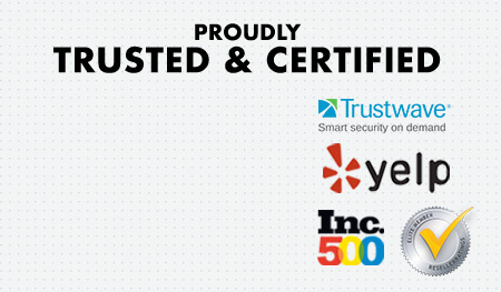Proudly Trusted & Certified