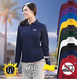 Ladies' Long Sleeve Core Performance Dri-Tech Polo