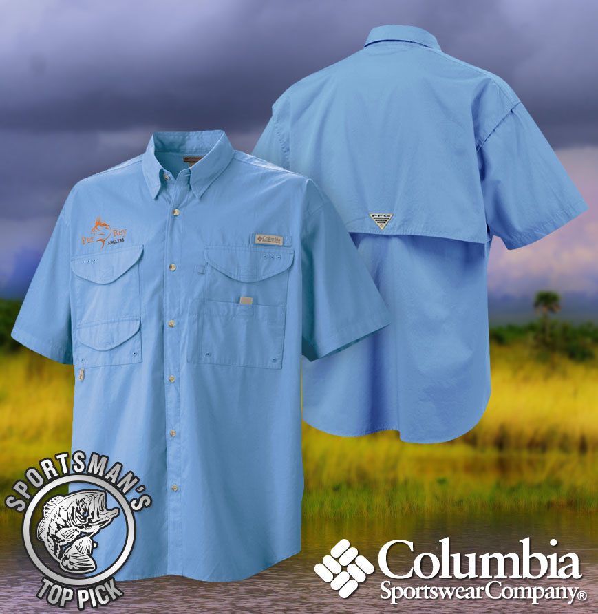 Columbia short sleeve fishing shirt for Custom embroidered columbia fishing shirts