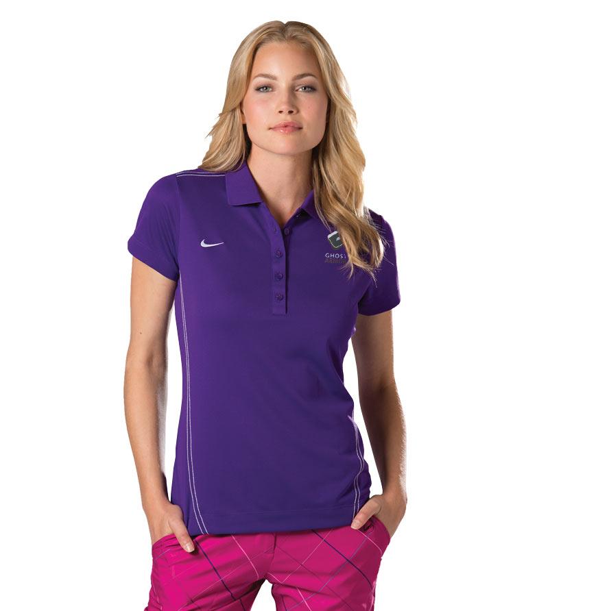 Nike Golf Ladies Dri Fit Sport Swoosh Pique Polo