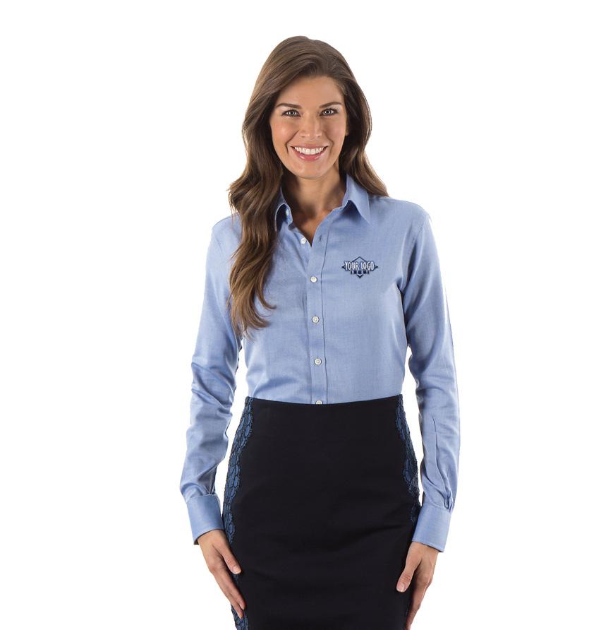 4ccba80eee3 ... Van Heusen Ladies Long Sleeve Resin Oxford Shirt. Loading.