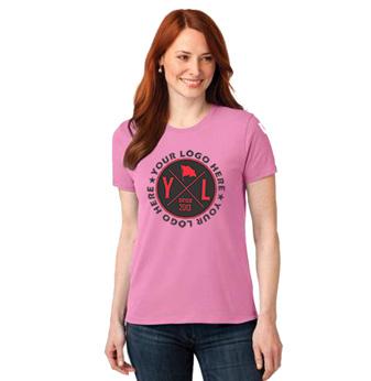 Ladies Premium Screen Printed 50/50 Blend T-Shirt (LIGHTS)