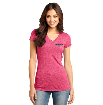 District Juniors Microburn V-Neck Tee