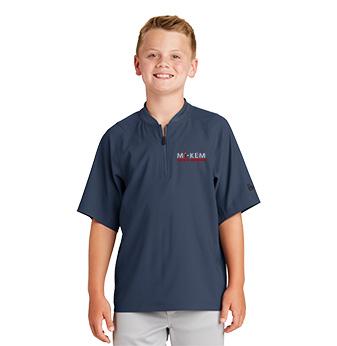 New Era Youth Cage Short Sleeve 1/4 Zip Jacket