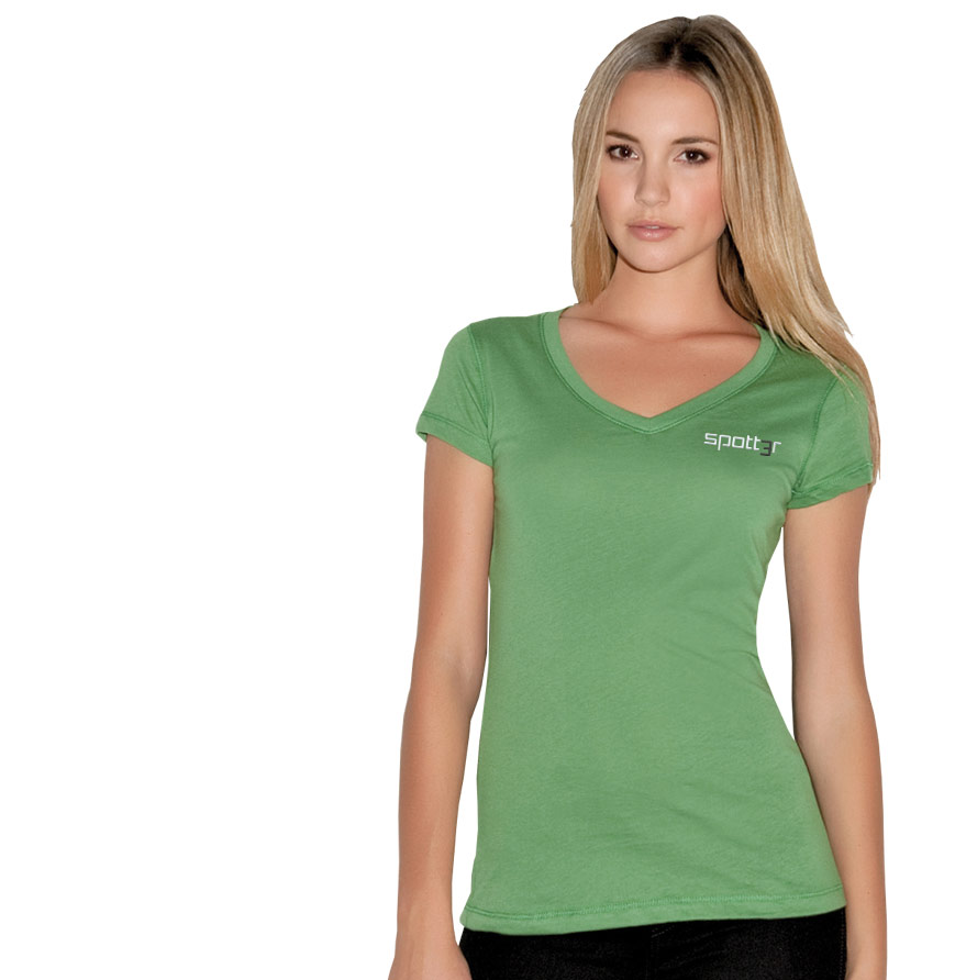 Junior Ladies' Perfect Weight V-Neck Tee