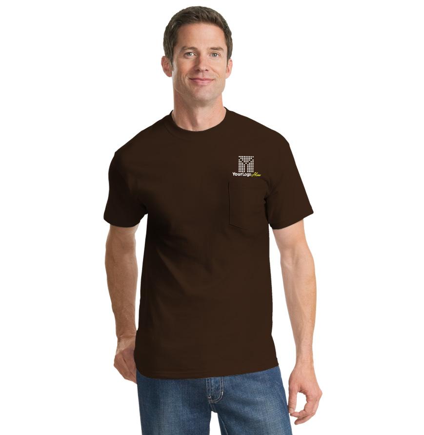 Screen Printed Pocket T-Shirt (Darks)