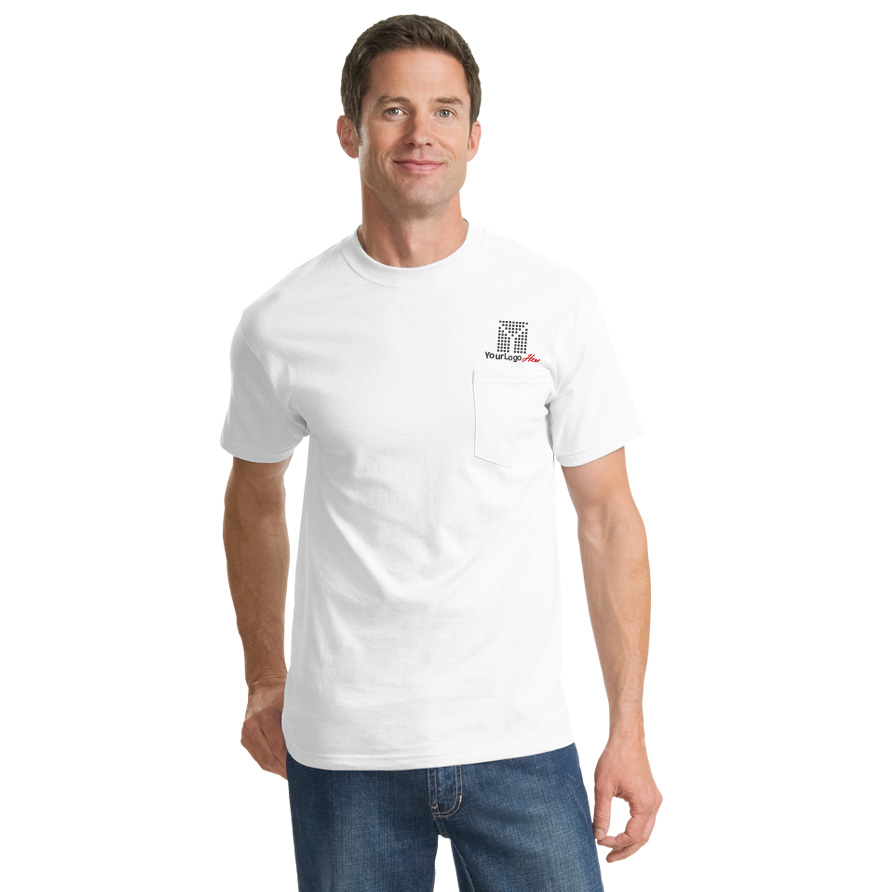 Screen Printed Pocket T-Shirt (Lights)