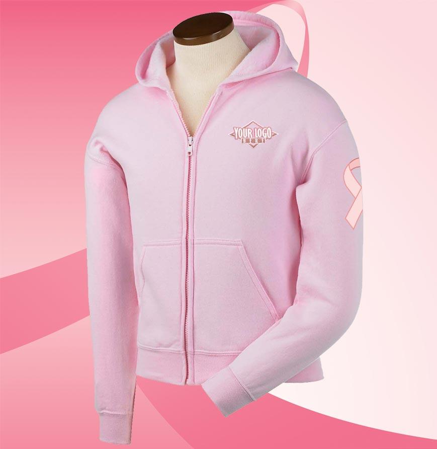 Pink Youth Full Zip Hoodie