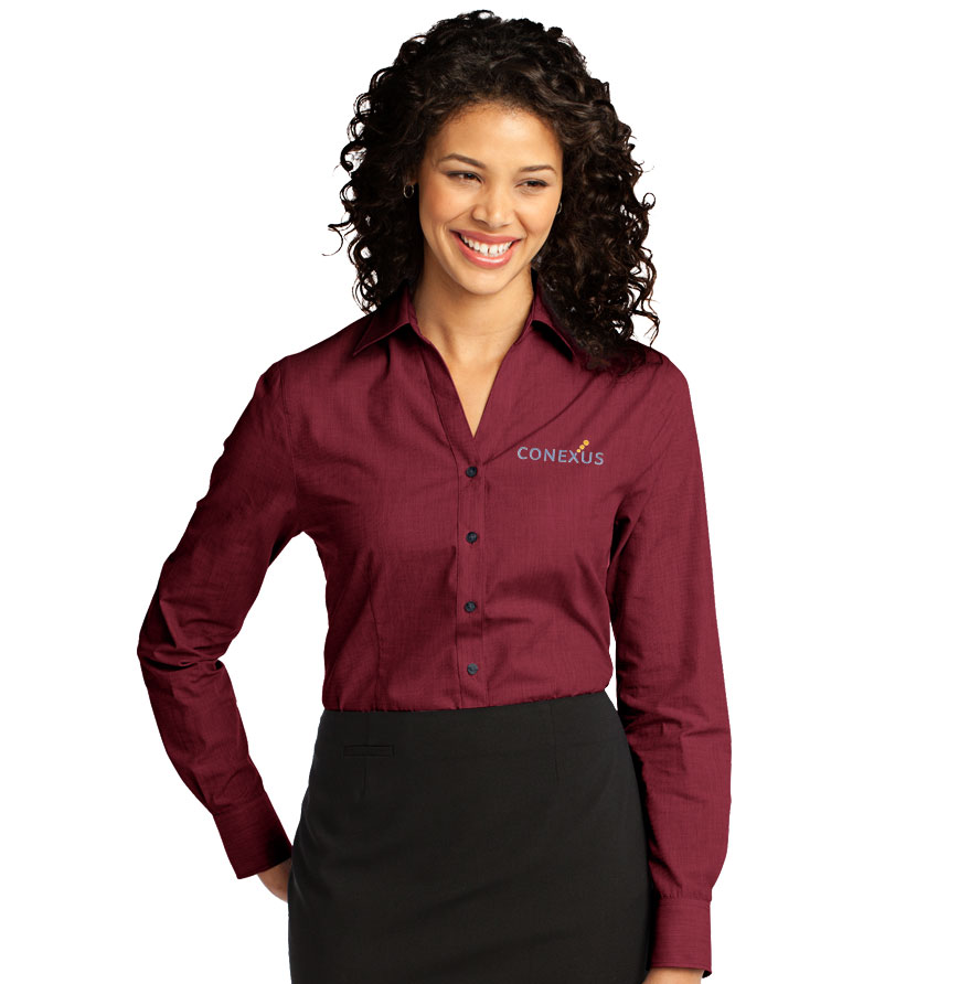 Ladies' Easy-Care Crosshatch Button Down