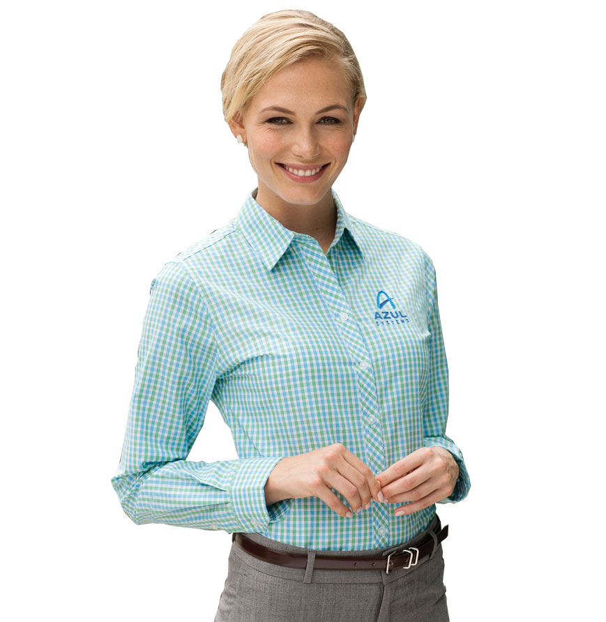 Ladies' Gingham Easy Care Woven