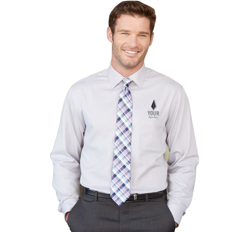 Van Heusen Long Sleeve Resin Finish Oxford Shirt
