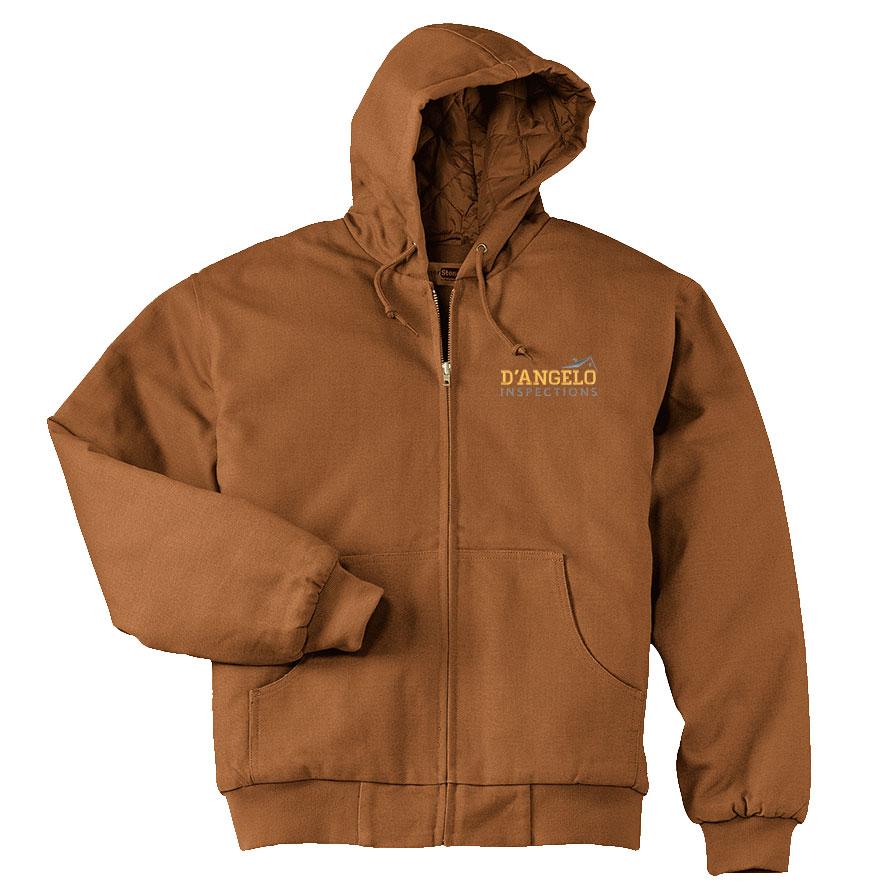 Duck Cloth Hooded Work Jacket