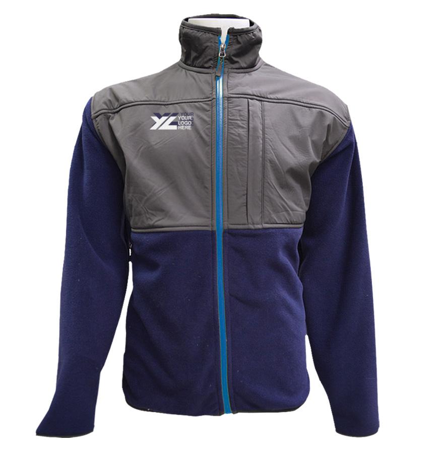 Men's Full Zip Jacket with Nylon Contrast