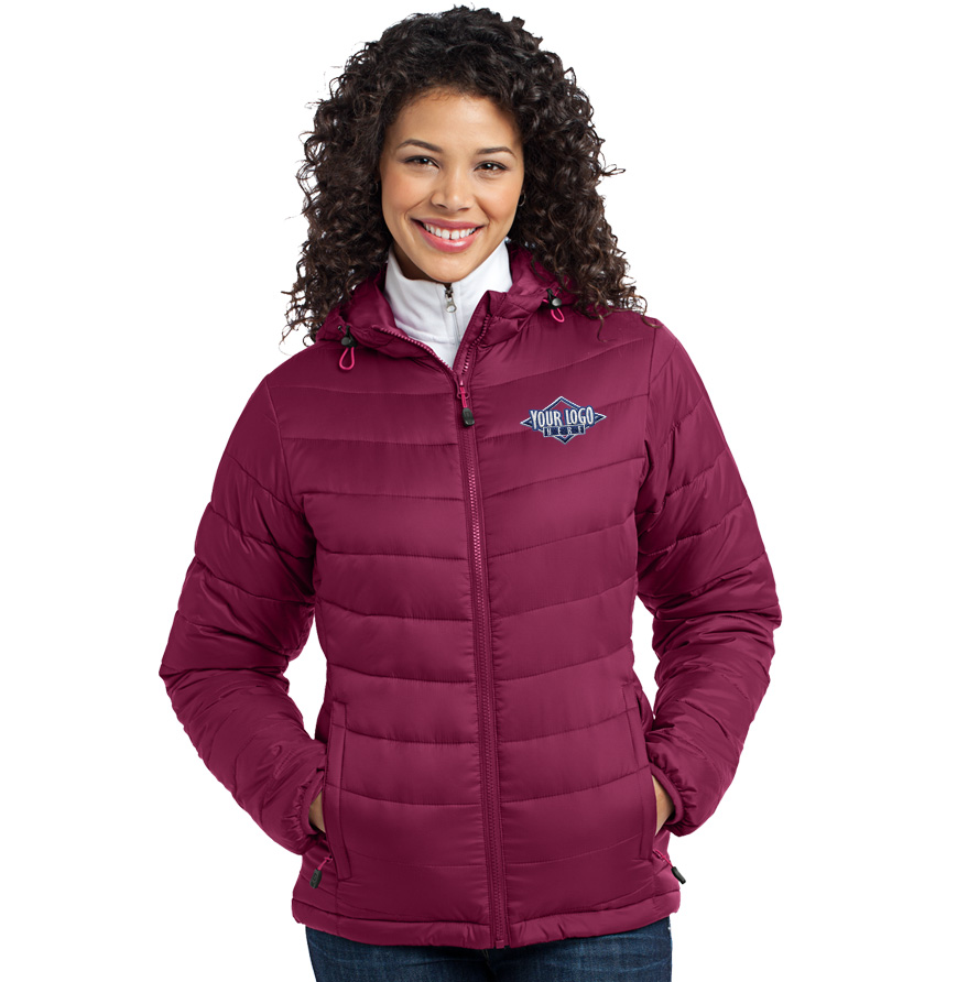 Port Authority Ladies Mission Hooded Puffy Jacket